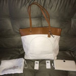 Coach Laura Leather Tote & Wallet